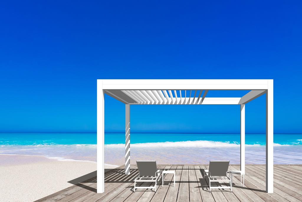 pergola bioclimatique marquises open r stores de france. Black Bedroom Furniture Sets. Home Design Ideas