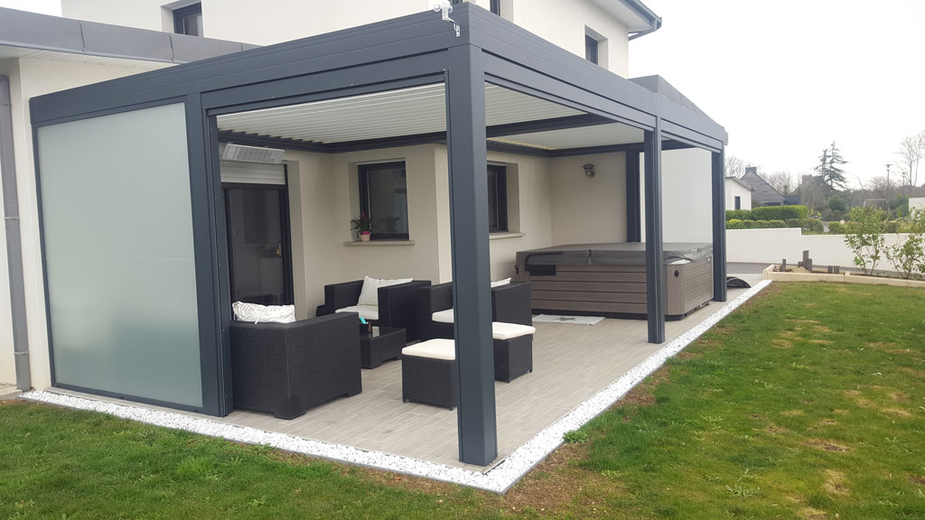 pergola bioclimatique marquises open r stores de france. Black Bedroom Furniture Sets. Home Design Ideas